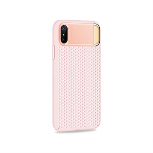 Joyroom iPhone X Pembe Fileli Fashion Case