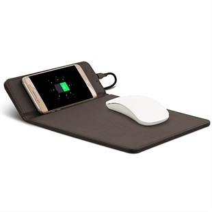 Wireless Mouse Pad Brown